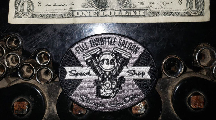 "Patch 14 - Full Throttle Saloon 2 3/8"" x 3"" Oval Shovelhead Patch"