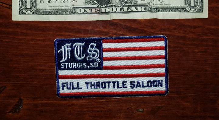 Patch 05 - Full Throttle Saloon 3.75 x 2 in Flag FTS patch