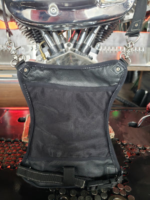 Leather Thigh Bag - large