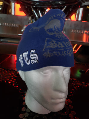 Beanie - FTS blue and gray knit cap