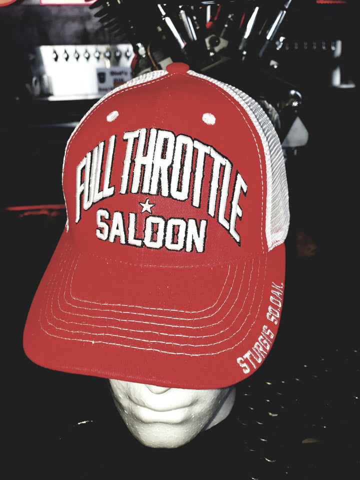 Cap - FTS Red and White trucker style cap