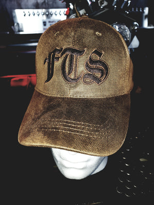 "Cap - FTS brown ""sealskin"" velcro back cap"