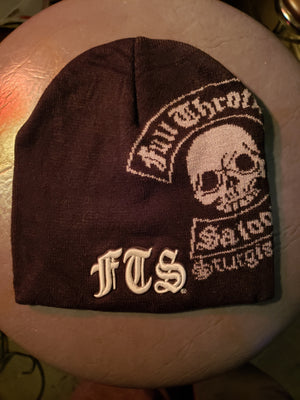 Beanie - FTS black and gray knit cap