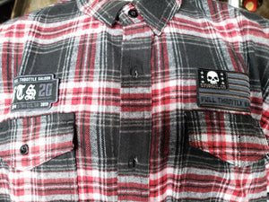 Plaid red Flannel Long Sleeve button down shirt