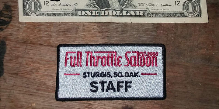 Patch 01 - Full Throttle Saloon 3.5 x 1.75 in. Staff Patch