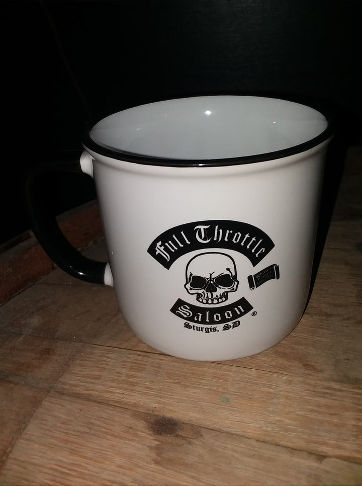 White and Black 16 oz Ceramic Coffee mug