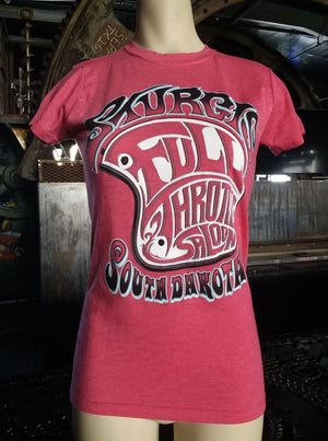 FTS Ladies dusty pink 70's Vibe crew neck t-shirt