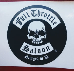 Sticker - Full Throttle classic logo small sticker