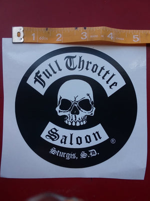 Sticker - Full Throttle classic logo large sticker