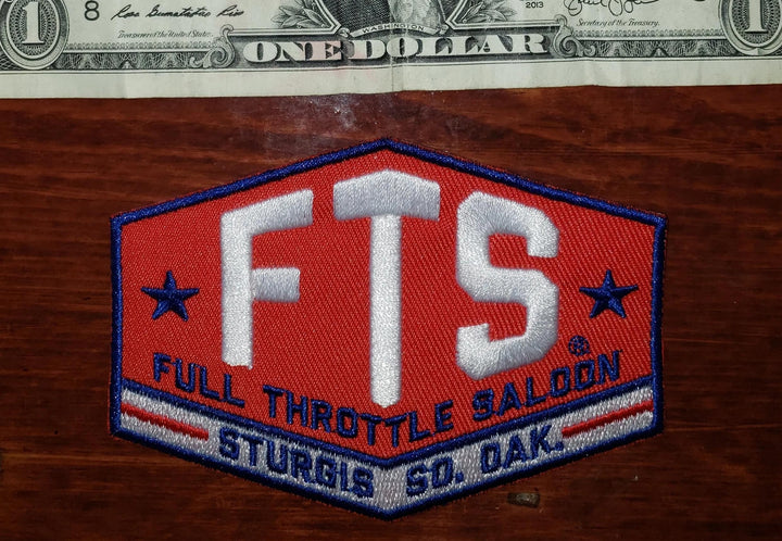 Patch - Full Throttle Saloon 4 x 2.75 in Patriotic FTS patch