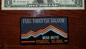 Patch - Full Throttle Saloon 3.5 x 2.5 Gray Retro Bear Butte FTS patch