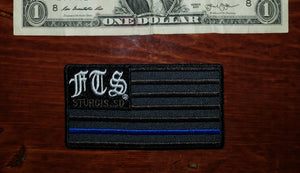Patch - Full Throttle Saloon 3.75 x 2 in Thin Blue Line Flag FTS patch