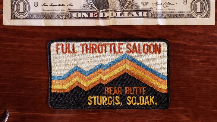 Patch 07 - Full Throttle Saloon 3.5 x 2.5 Pale Yellow Retro Bear Butte FTS patch