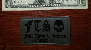 Patch - Full Throttle Saloon 3.5 x 2.5 Gray pleather FTS patch
