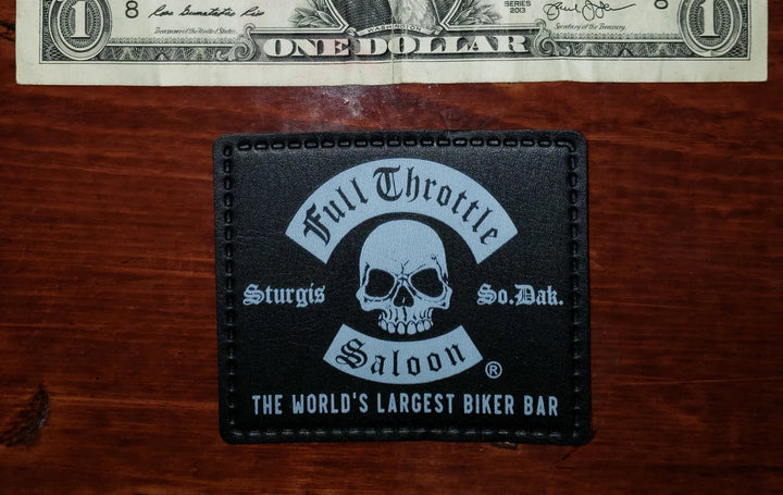 Patch - Full Throttle Saloon 3.5 x 2.5 Black pleather FTS patch