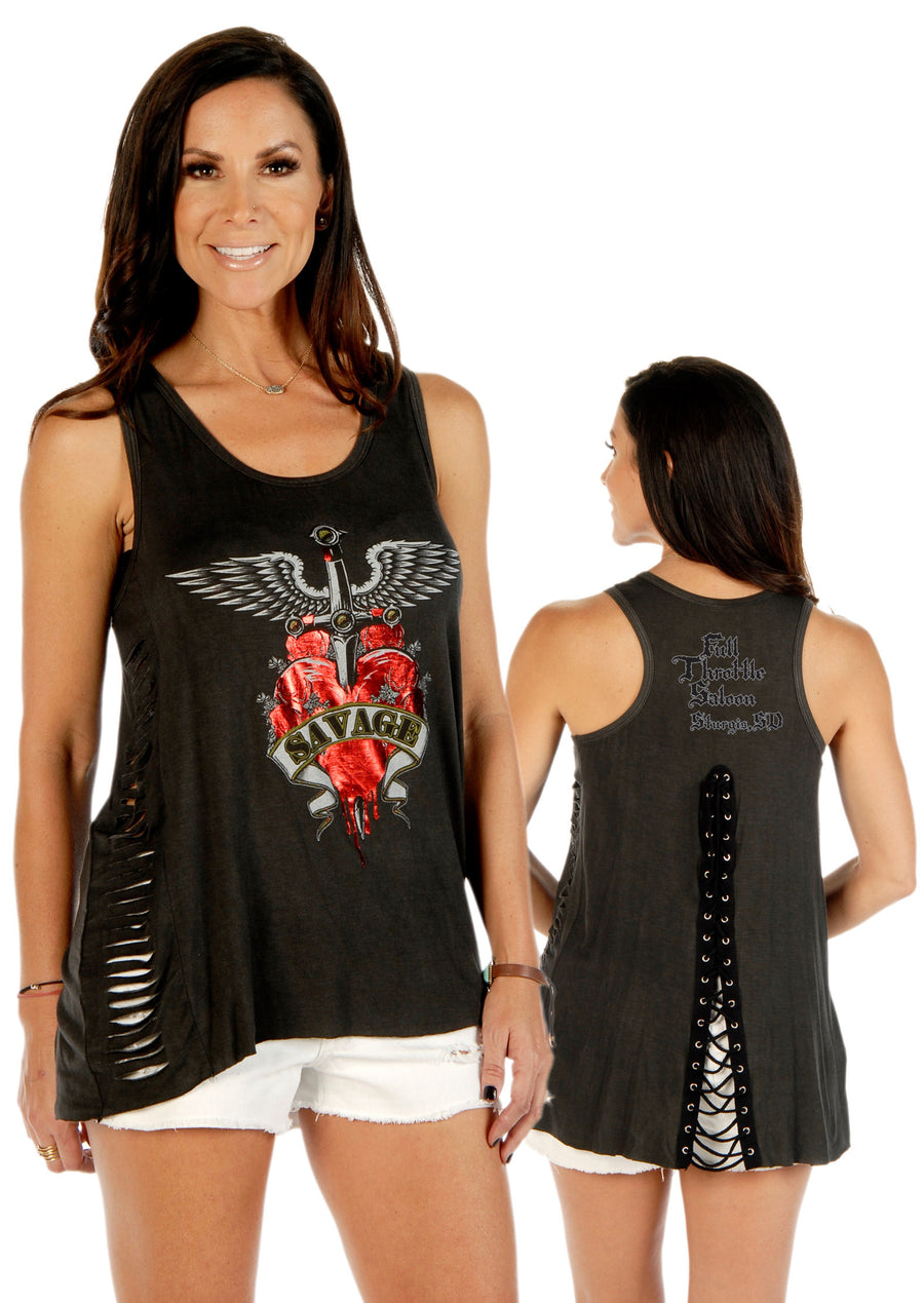 FTS Ladies Libertywear FTS7510 -  Women's loose fit tank top with lazer cut sides