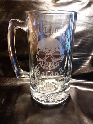 Clear 16 oz. FTS Logo Glass Stein