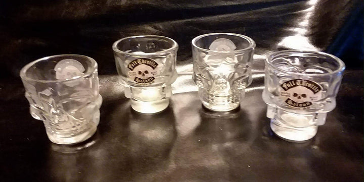 FTS Clear Skull Shot Glass 4 Pack