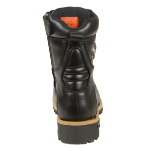 Milwaukee Leather Boots MBM9095 Men's Classic Lace to Toe Boots with Side Zipper