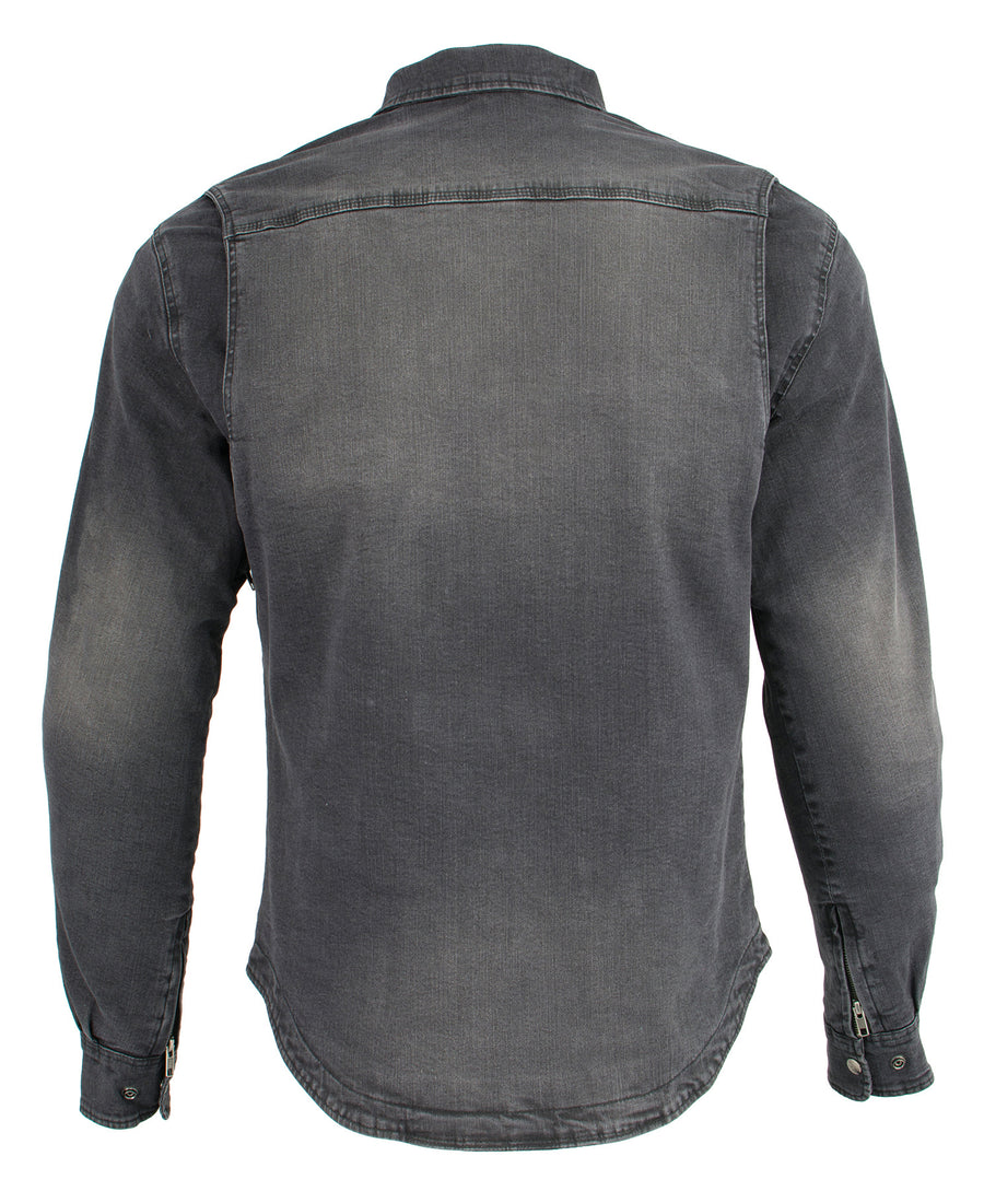 Milwaukee Performance-MPM1620-Men's Black Armored Denim Biker Shirt w/ Aramid® by DuPont™ Fibers
