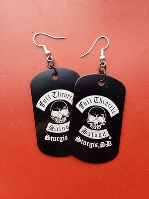 Full Throttle dog tag style earrings