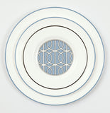 Cornflower Blue/White Dessert/Salad Plate