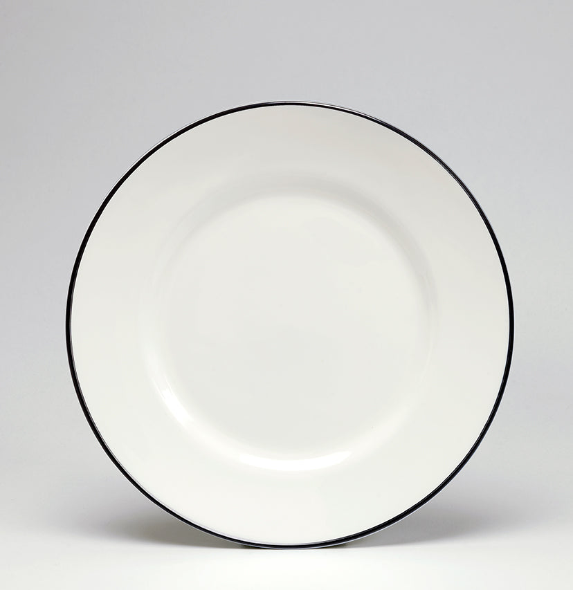 Black/White Dessert/Salad Plate