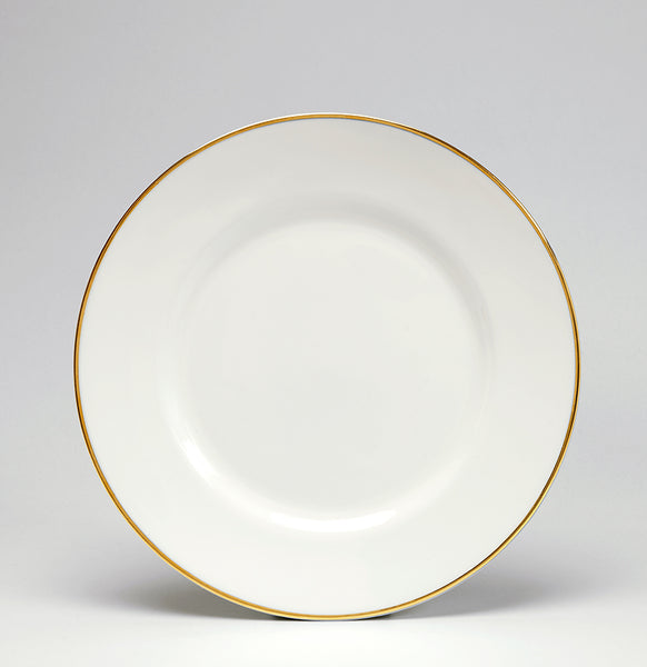 Gold/White Dessert/Salad Plate