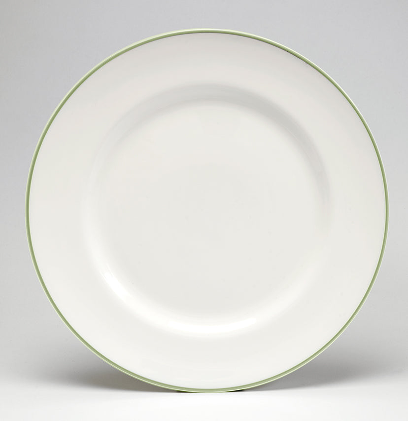 Apple Green/White Dinner Plate