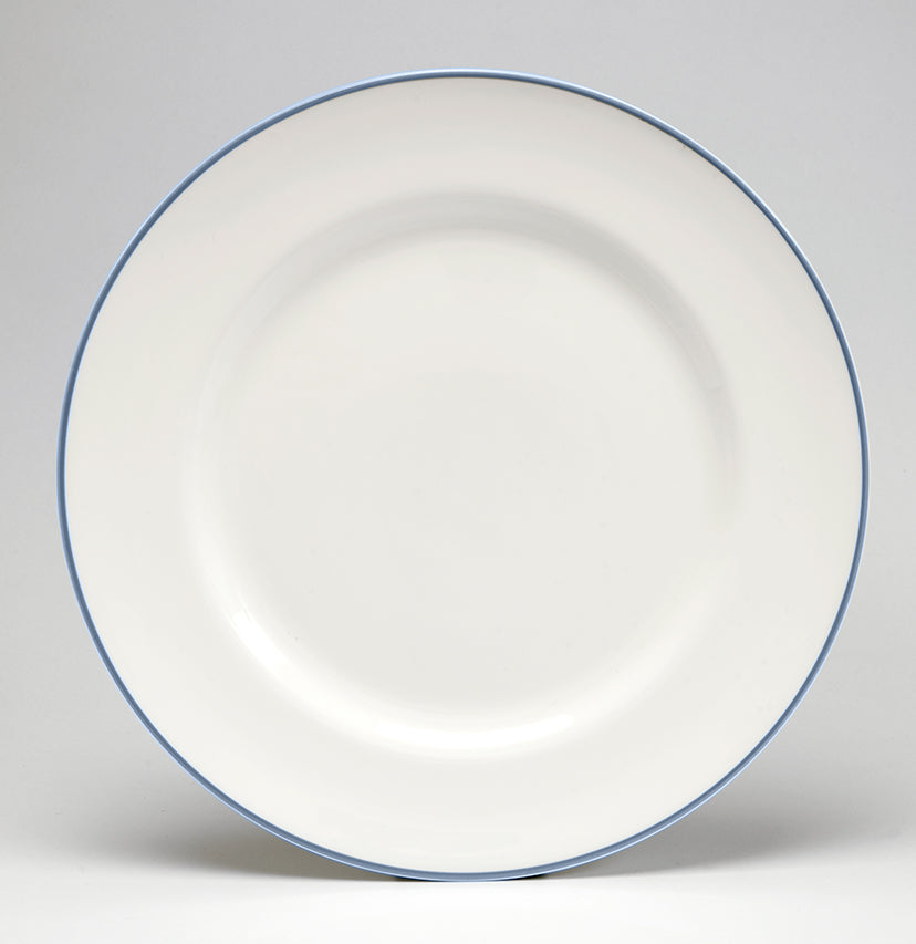 Cornflower Blue/White Dinner Plate