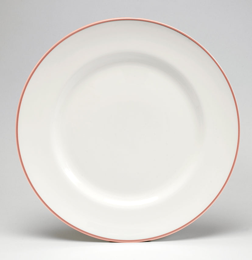Coral/White Dinner Plate
