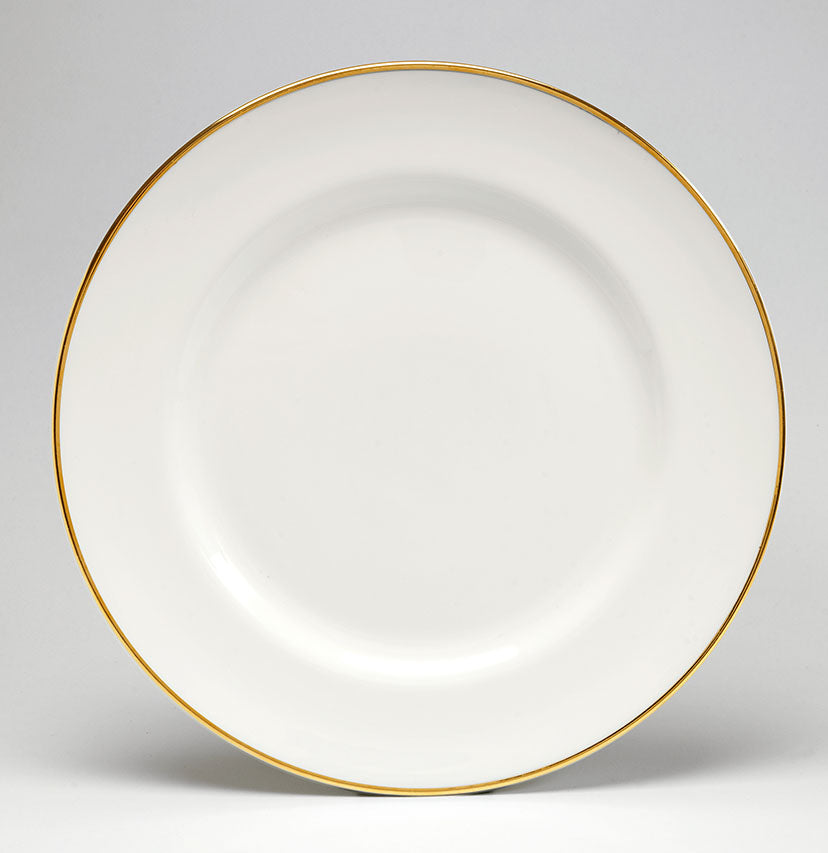 Gold/White Dinner Plate - COMING SOON