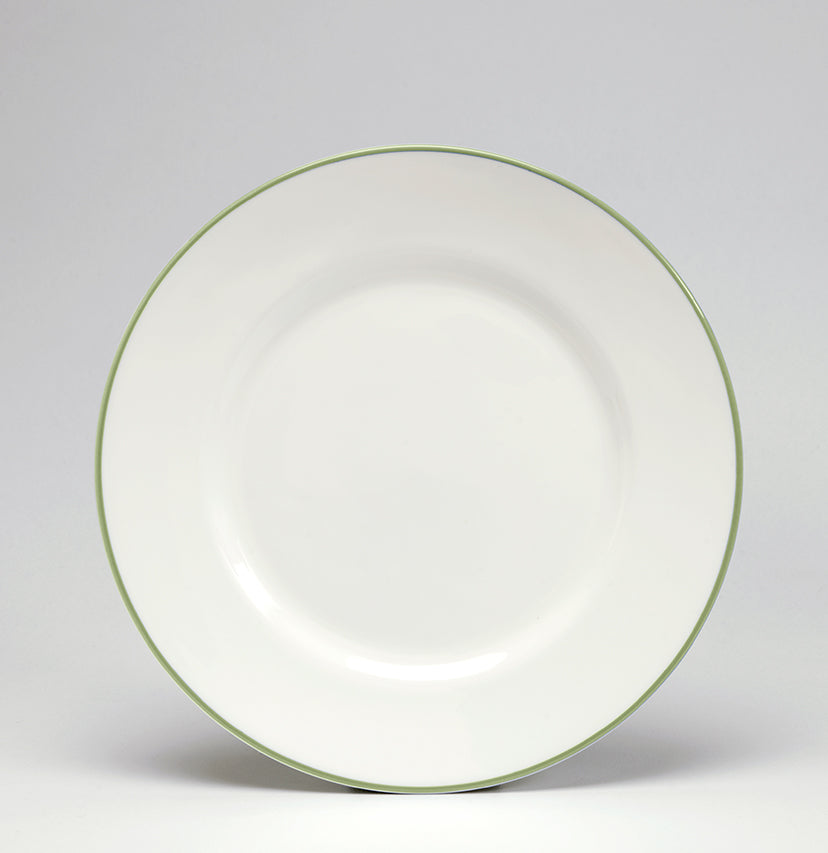 Apple Green/White Dessert/Salad Plate