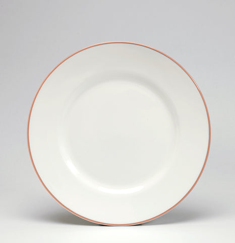 Coral/White Dessert/Salad Plate - SOLD OUT