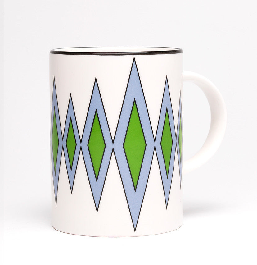 Diamond Cornflower Blue/Green Mug