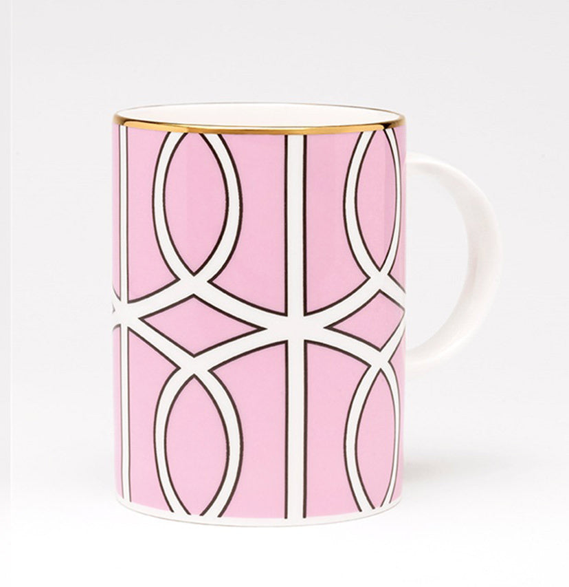 Loop Pink/White Mug (Gold)