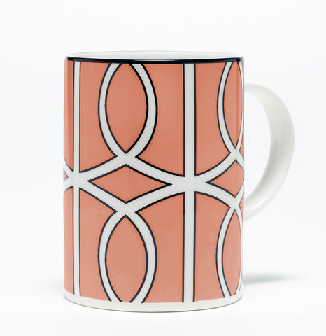 Loop Coral/White Mug (Black)