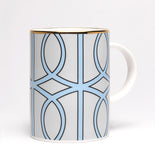 Loop Light Grey/Aqua Mug (Gold)
