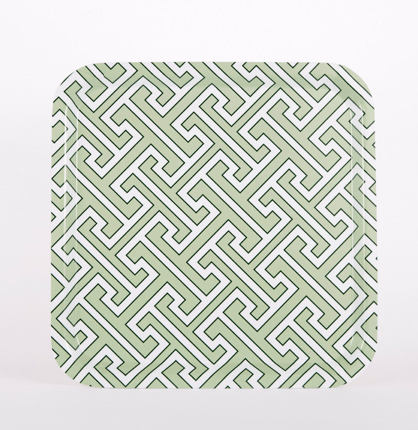Maze Apple Green/White Tray