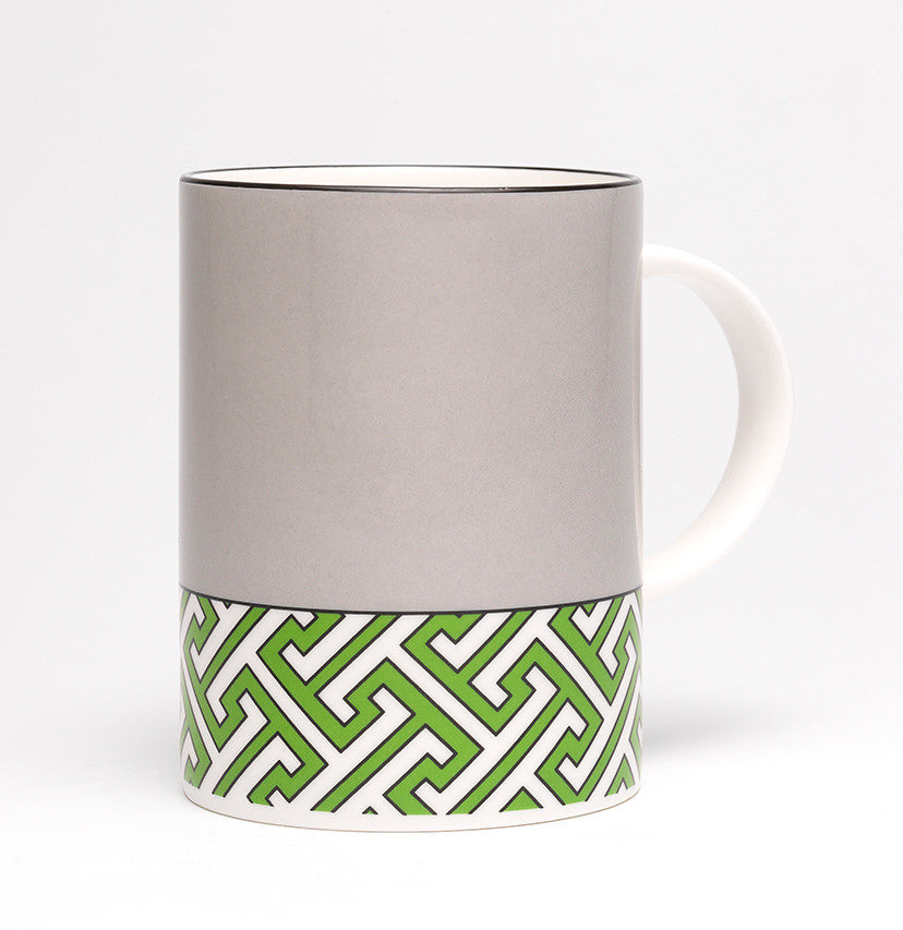 Maze Mid Grey/Green Mug - SOLD OUT