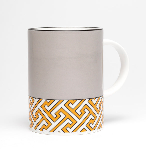 Maze Mid Grey/Orange Mug