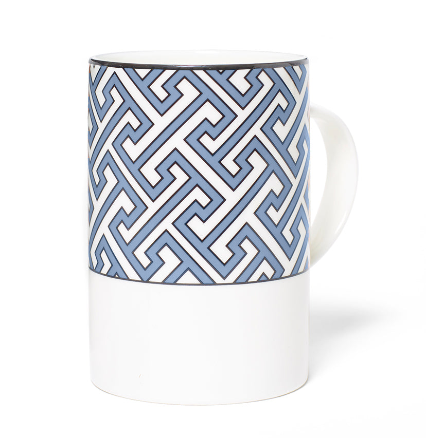 Maze Maxi Cornflower Blue/White Mug