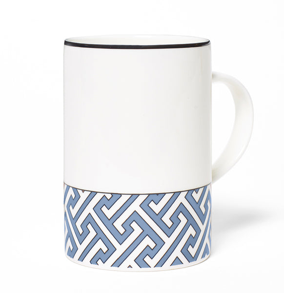 Maze Cornflower Blue/White Mug