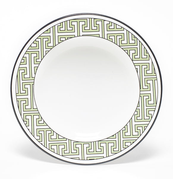 Maze Apple Green/White Teaplate Outer Design (Black)