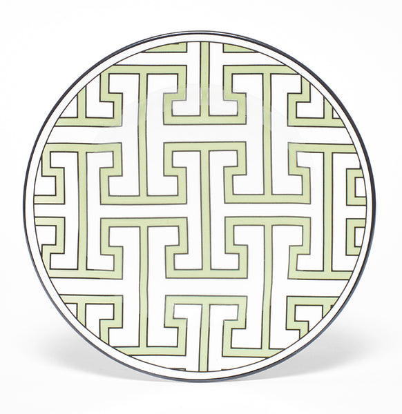 Maze Apple Green/White Teaplate All Over Design (Black)