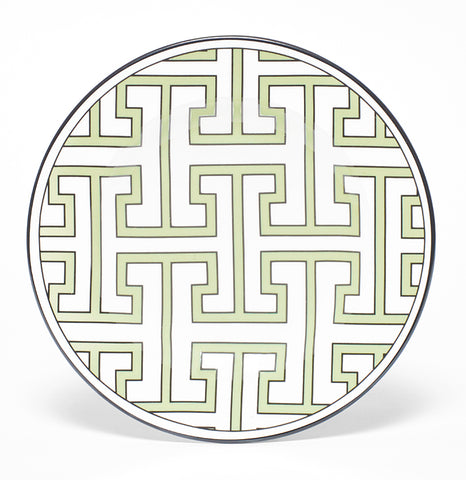 Maze Apple Green/White Teaplate All Over Design (Black) - SOLD OUT