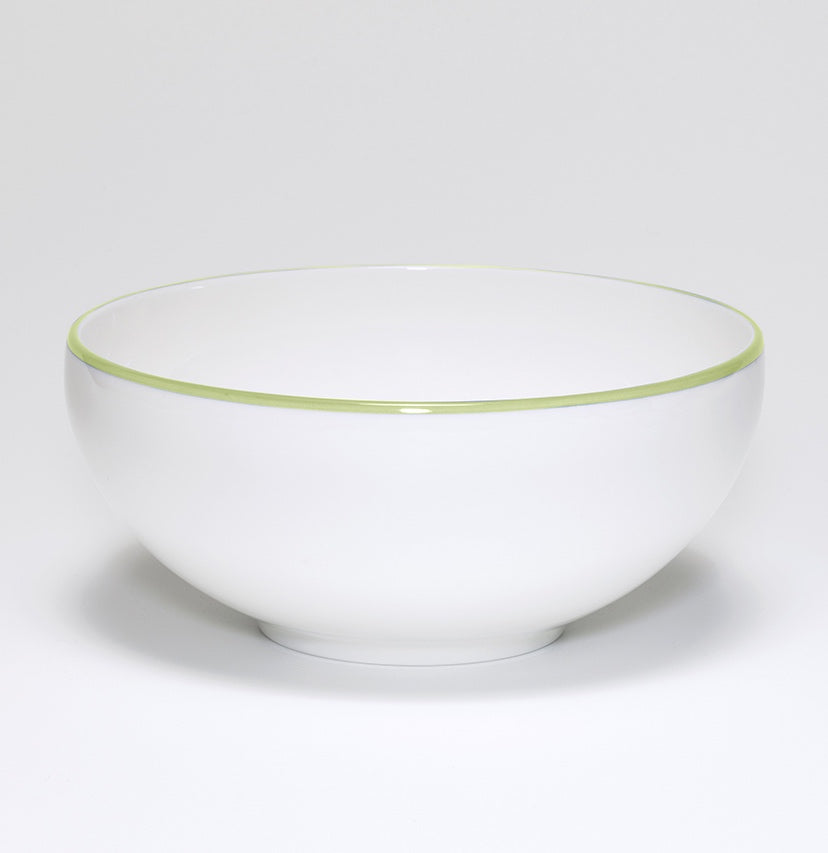 Apple Green/White Bowl