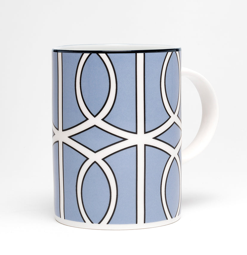 Loop Cornflower Blue/White Mug (Black)