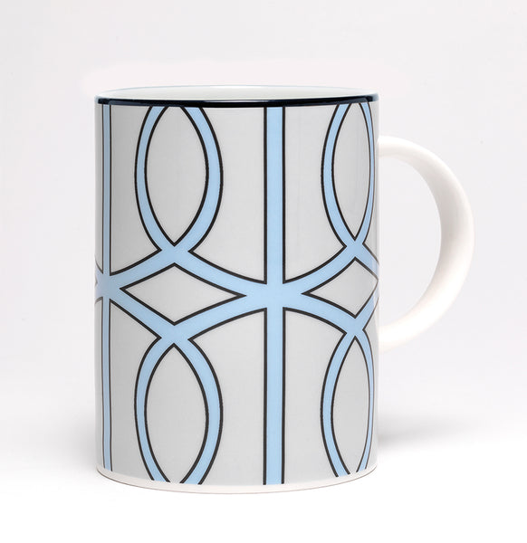 Loop Pale Grey/Aqua Mug (Black)