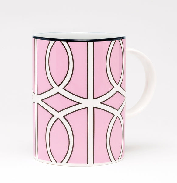 Loop Pink/White Mug (Black)